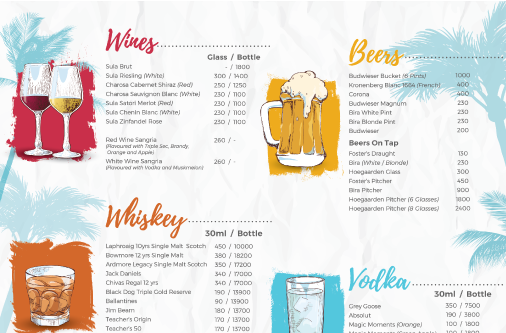 TJ's Brews Menu